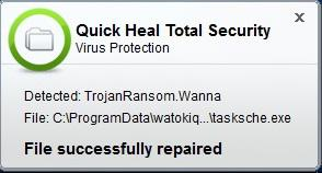 Quick-Heal-Virus-Protection-Warning