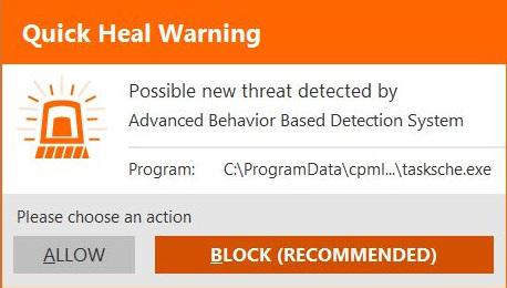 QuickHeal-Advanced-Behavior-Based-Detection-Prompt