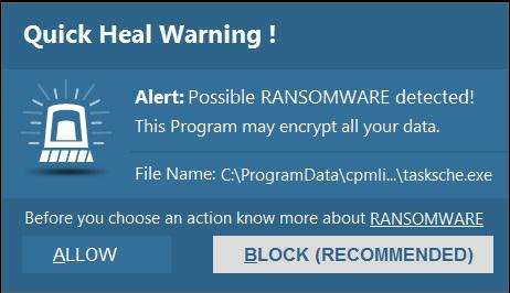 QuickHeal-Anti-ransomware-detects-encryption-activity