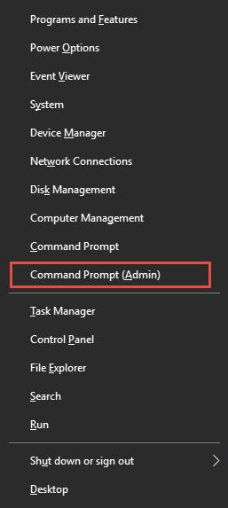 ctrl X Comman Prompt Admin